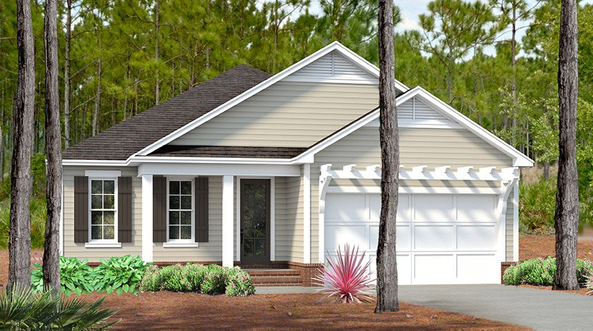 Captiva Main Exterior in new home community SweetBay