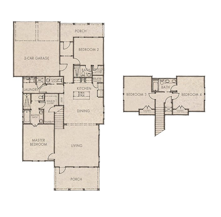 Coral Bean Floorplan